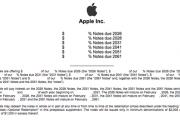 苹果拟发行六部分票据 规模未披露